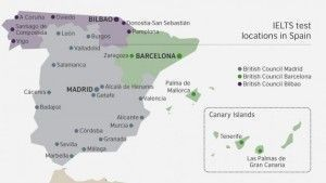location ielts spain