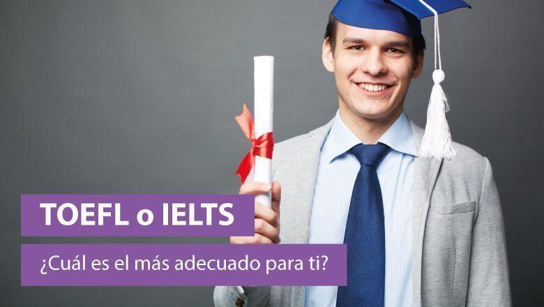 estudiante con su diploma de TOEFL o IELTS