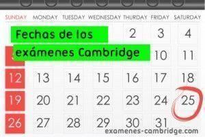 Fechas Exámenes Cambridge 2015